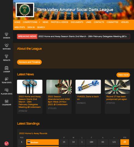 Yarra Valley Amateur Social Darts League