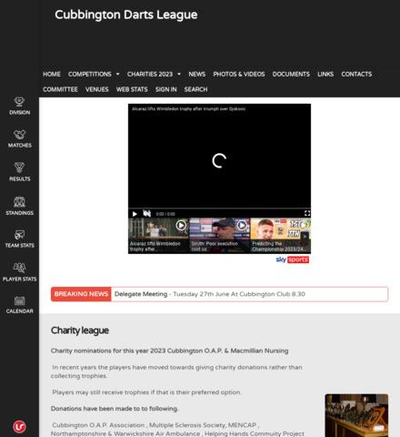 CubbingtonOAPdarts - screenshot
