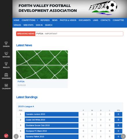 Forth Valley Football Development Association - screenshot