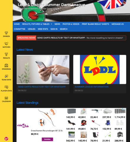 Leek Darts League - screenshot