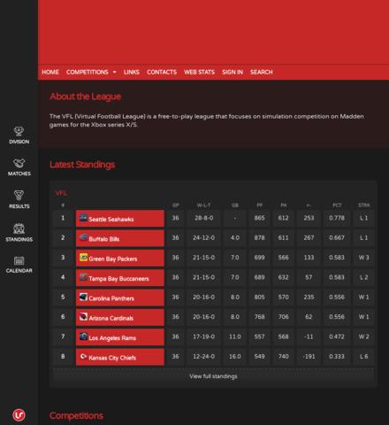 Virtual Football League