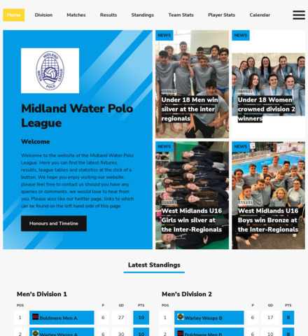Midland Water Polo League - screenshot