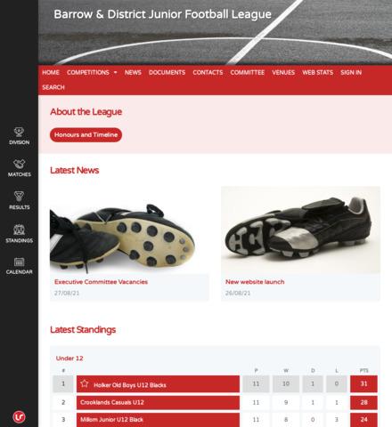 Barrow & District Junior Football League - screenshot
