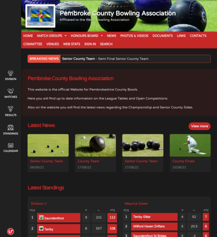 Pembroke County Bowling Association - screenshot