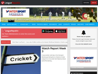 PS Derbyshire & Cheshire Cricket League - screenshot