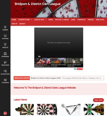Bridport & District Dart League - screenshot