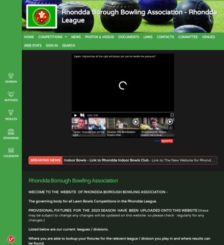 Rhondda Borough  Bowling Association  - Rhondda League