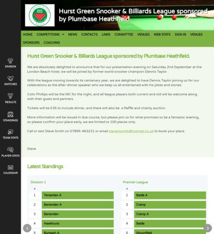 The Hurst Green Snooker & Billiards League