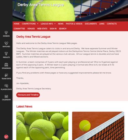 Derby Area Tennis League - screenshot