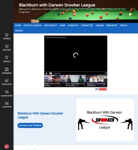Blackburn with Darwen Snooker League - screenshot