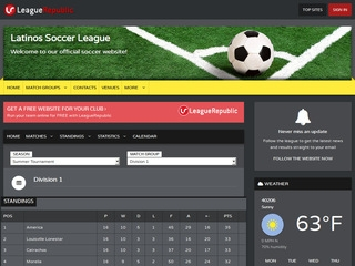 Latinos Soccer League - screenshot