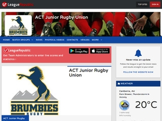 ACT Junior Rugby Union - screenshot