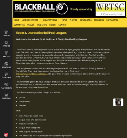 Eccles & District Blackball Pool Leagues