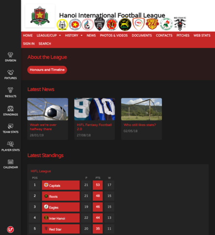 Hanoi International Football League - screenshot
