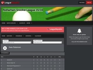 Rotherham Snooker League 14/15 - screenshot
