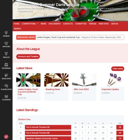Stowmarket Summer Darts League - screenshot