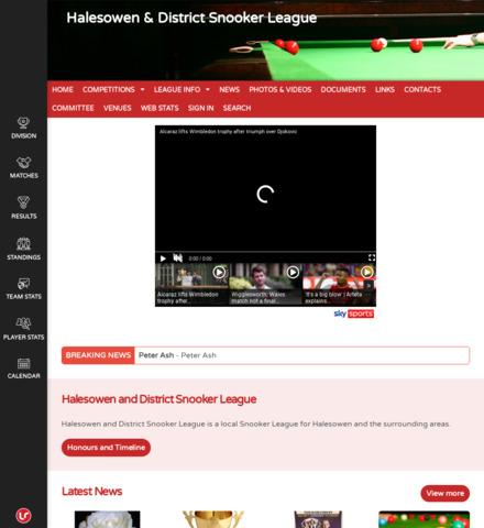 Halesowen & District Snooker League