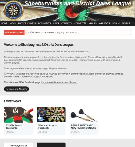 Shoeburyness and District Dart League