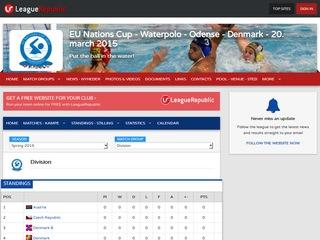EU Nations Cup - Waterpolo - Odense - Denmark - 20. march 2015 - screenshot
