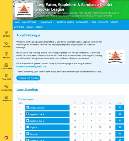 Long Eaton, Stapleford & Sandiacre District Snooker League
