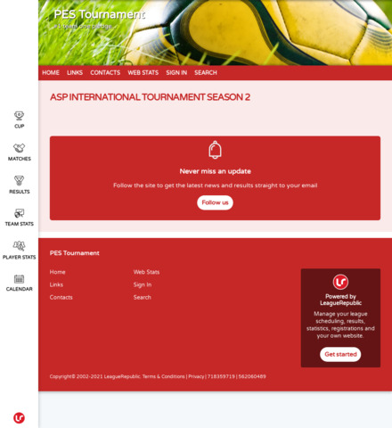 PES Tournament - screenshot