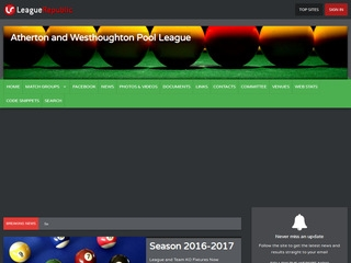 Atherton and Westhoughton Pool League - screenshot