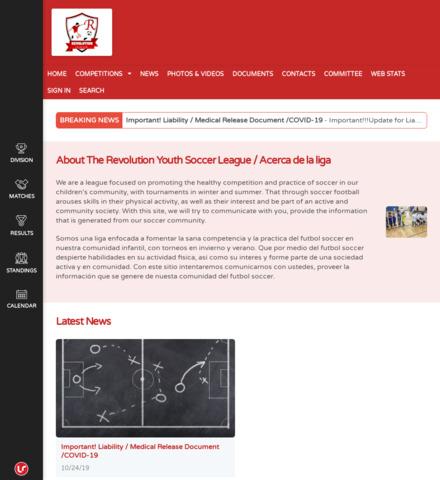Revolution Youth Soccer League - screenshot