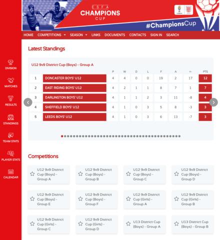 ESFA CHAMPIONS CUP - screenshot