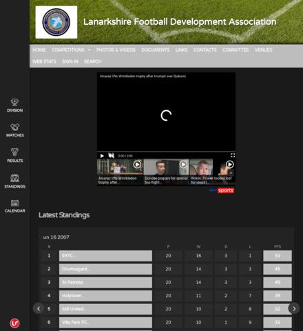 Lanarkshire Football  Development Association - screenshot