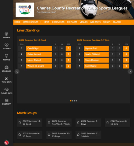 Charles County Recreation Youth  Sports Leagues
