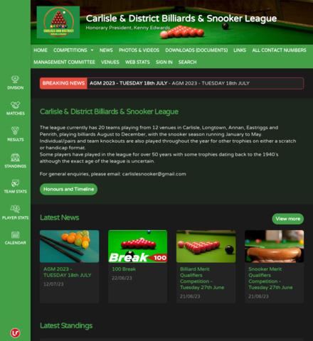 Carlisle & District Billiards & Snooker League