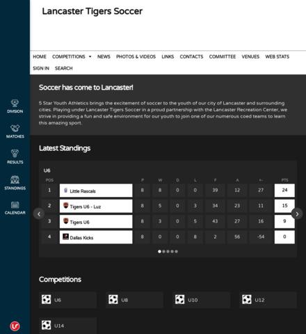 Lancaster Tigers Soccer - captura de pantalla