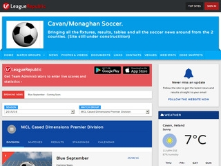 Monaghan Cavan League - screenshot