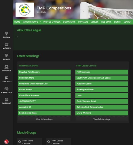 FMR Competitions - screenshot