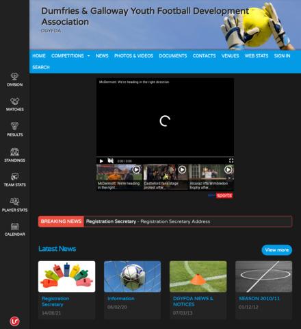 Dumfries & Galloway Youth Football Development Association - screenshot
