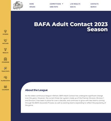 BAFA National League - imagem