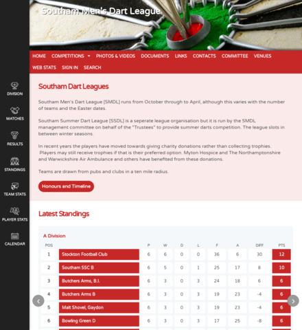 Southam Men's Dart League - screenshot