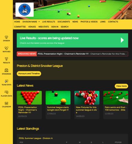 Preston & District Snooker League