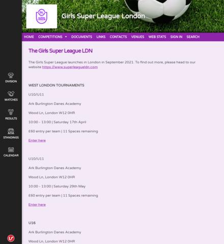 Girls Super League London - imagem