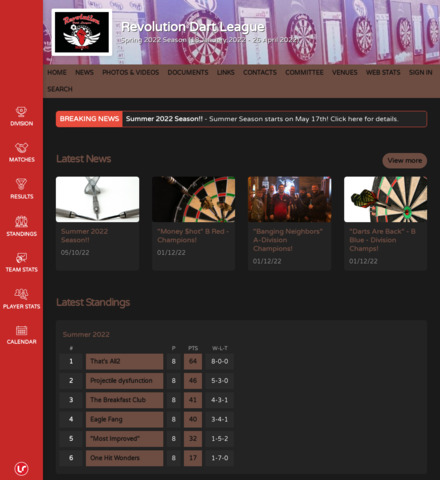 Revolution Dart League