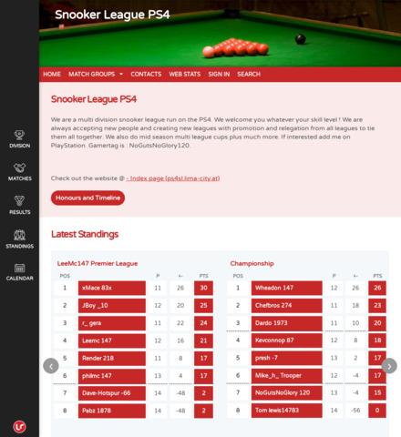 Snooker League PS4