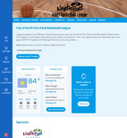 North Port Adult Basketball League