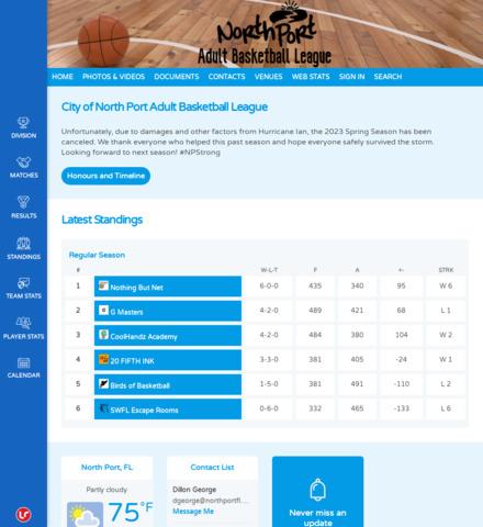 North Port Adult Basketball League