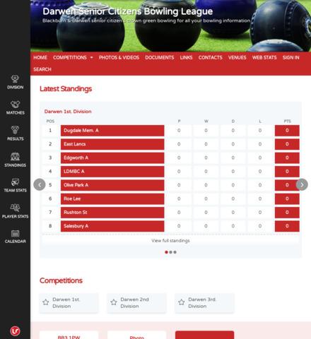 Darwen Senior Citizens Bowling League - screenshot