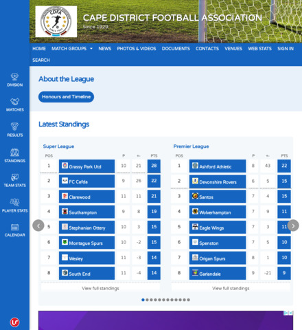 CAPE DISTRICT FOOTBALL ASSOCIATION - imagem