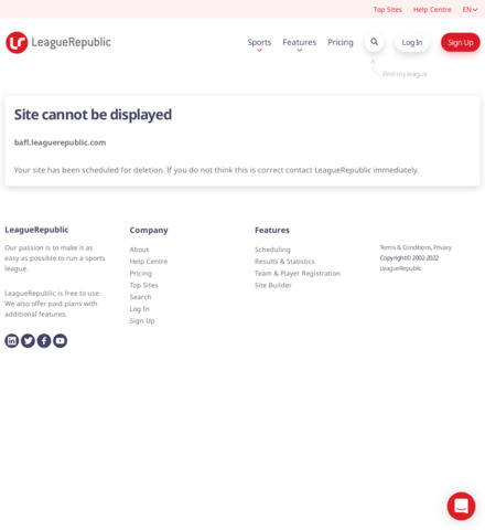 Border Amateur Football League - screenshot