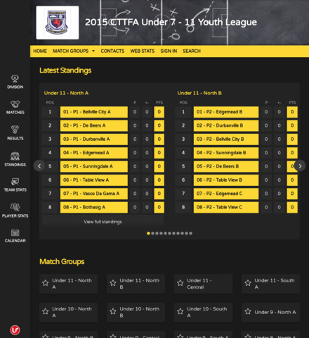 2015 CTTFA Under 7 - 11 Youth League - screenshot