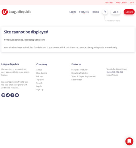 Hyndburn & District Bowling League - screenshot