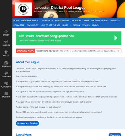 Leicester District Pool League