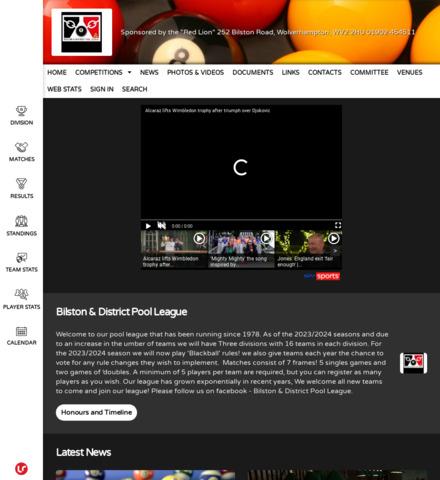 Bilston & District Pool League
